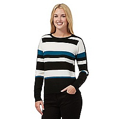 Principles Petite by Ben de Lisi - Bright turquoise striped jumper