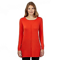 Principles by Ben de Lisi - Bright orange fine gauge tunic