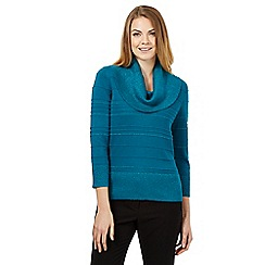 Principles by Ben de Lisi - Bright turquoise cowl neck jumper