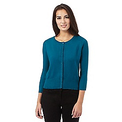 Principles by Ben de Lisi - Turquoise glitter detail cardigan