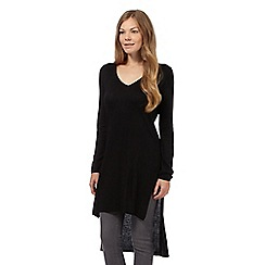 Principles by Ben de Lisi - Black ribbed V neck tunic