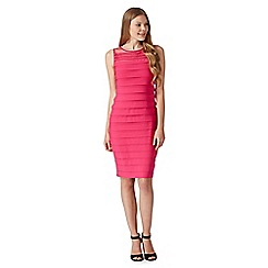 Principles by Ben de Lisi - Designer pink pleated shift dress