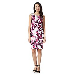 Principles by Ben de Lisi - Designer bright pink geometric scuba dress