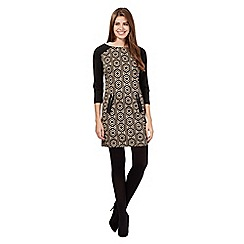 Principles Petite by Ben de Lisi - Black hexagon print tunic dress