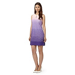 Principles Petite by Ben de Lisi - Designer purple dip dye circle burnout dress