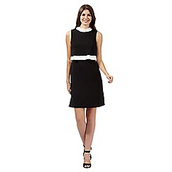 Principles by Ben de Lisi - Designer black colour block crepe dress