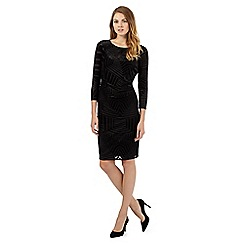 Principles Petite by Ben de Lisi - Black velvet devore dress
