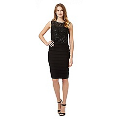 Principles by Ben de Lisi - Black circle sequin dress