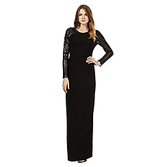 Principles by Ben de Lisi - Black embellished sequin sleeve maxi dress