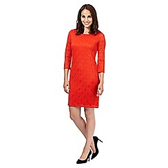 Principles by Ben de Lisi - Orange diamond lace relaxed dress