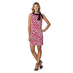 Principles by Ben de Lisi - Designer pink matchstick knot shift dress