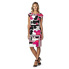 Principles by Ben de Lisi - Designer pink cloud colour block shift dress
