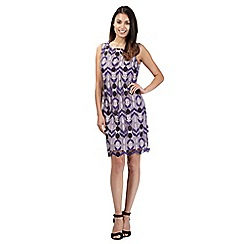 Principles by Ben de Lisi - Designer purple mesh dress