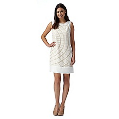 Principles Petite by Ben de Lisi - Designer off white burnout dress