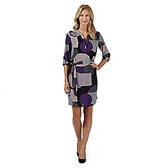 Principles by Ben de Lisi - Designer purple spotted striped shirt dress