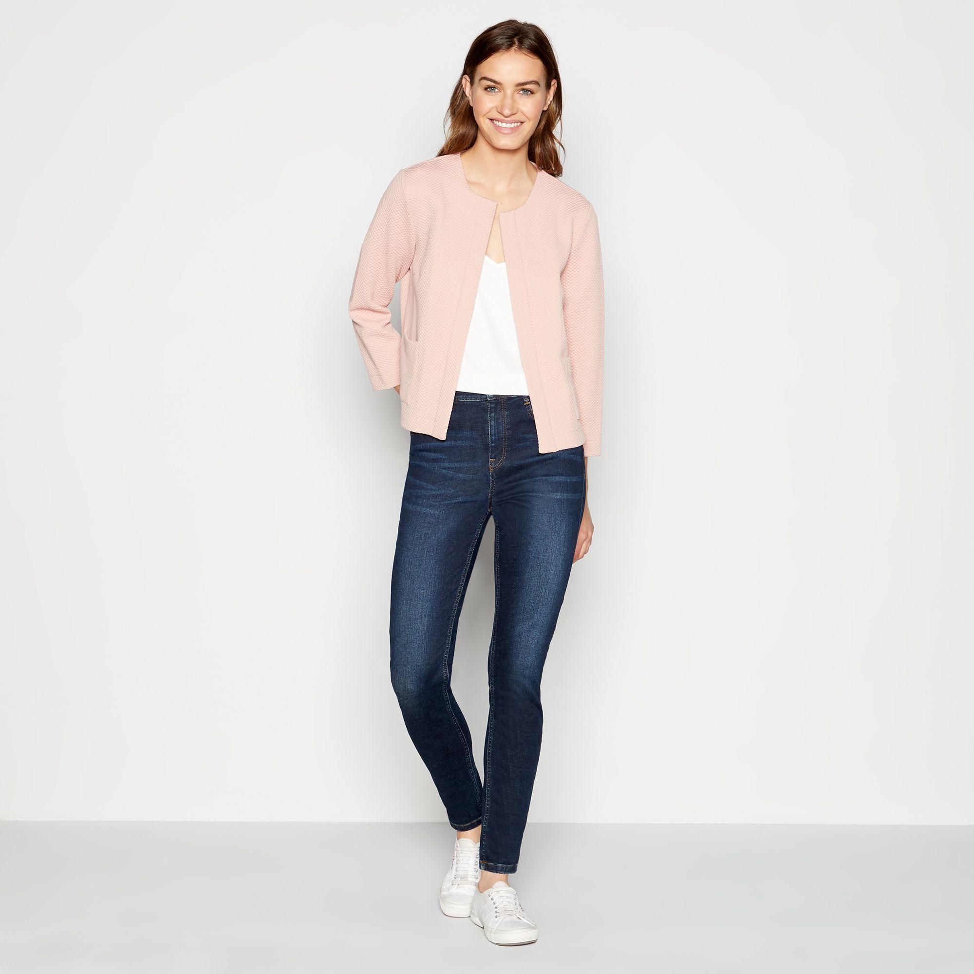 Principles Womens Pale Pink Short Textured Jacket