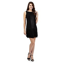 Principles Petite by Ben de Lisi - Black sequin fringed dress