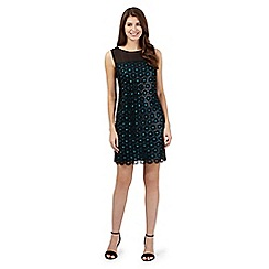 Principles by Ben de Lisi - Black circled lace sequinned dress