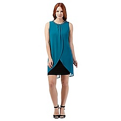 Principles by Ben de Lisi - Turquoise embellished layer dress