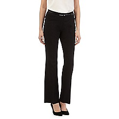 Principles Petite by Ben de Lisi - Black belted bootcut trousers