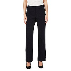 Principles Petite by Ben de Lisi - Navy straight formal trousers