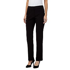 Principles Petite by Ben de Lisi - Black formal straight trousers