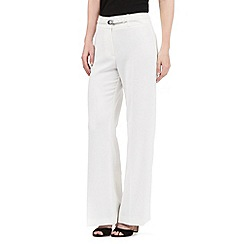 Principles by Ben de Lisi - Ivory high waisted wide leg trousers