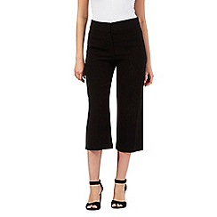 Principles by Ben de Lisi - Black wide leg cropped trousers