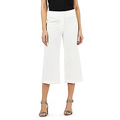 Principles by Ben de Lisi - Ivory wide cropped trousers