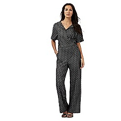 Principles Petite by Ben de Lisi - Black arrow print jumpsuit