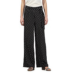 Principles by Ben de Lisi - Black diamond print wide leg trousers