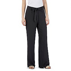 Principles Petite by Ben de Lisi - Black pin dot wide leg trousers