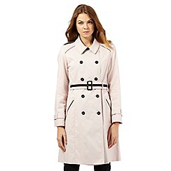 Principles by Ben de Lisi - Light pink contrast mac coat