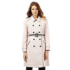 Principles by Ben de Lisi - Light pink contrast mac coat