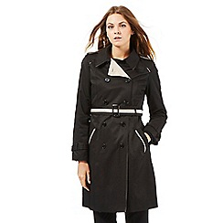 Principles Petite by Ben de Lisi - Black contrast mac coat