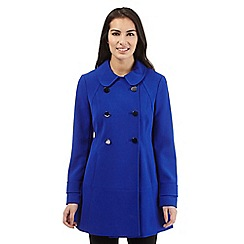 Principles Petite by Ben de Lisi - Bright blue double breasted coat