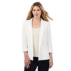 Principles by Ben de Lisi - White textured blazer
