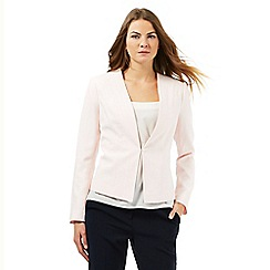 Principles Petite by Ben de Lisi - Light pink textured jacket