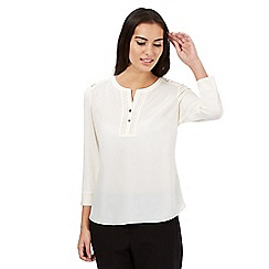 Principles by Ben de Lisi - Ivory lace insert top