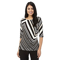 Principles by Ben de Lisi - Black chevron striped top