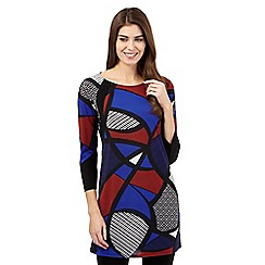 Principles by Ben de Lisi - Bright blue geometric colour block tunic