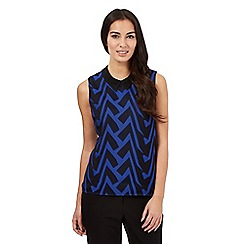 Principles by Ben de Lisi - Blue tribal sleeveless top