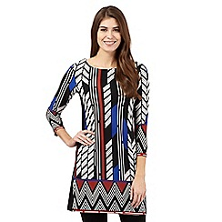 Principles Petite by Ben de Lisi - Black tribal tunic