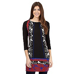 Principles Petite by Ben de Lisi - Black leaf print tunic