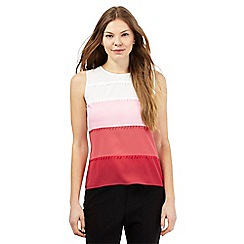 Principles Petite by Ben de Lisi - Pink triangle ombre-effect shell top