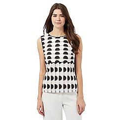 Principles by Ben de Lisi - Black and white textured half moon top