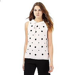Principles by Ben de Lisi - Light pink spot applique sleeveless top