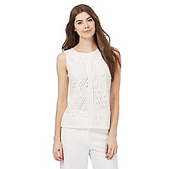 Principles by Ben de Lisi - Ivory Aztec lace top