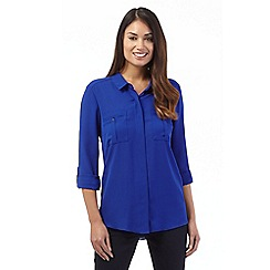 Principles Petite by Ben de Lisi - Bright blue utility shirt
