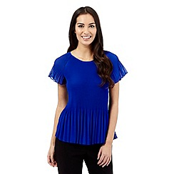 Principles by Ben de Lisi - Bright blue pleated top